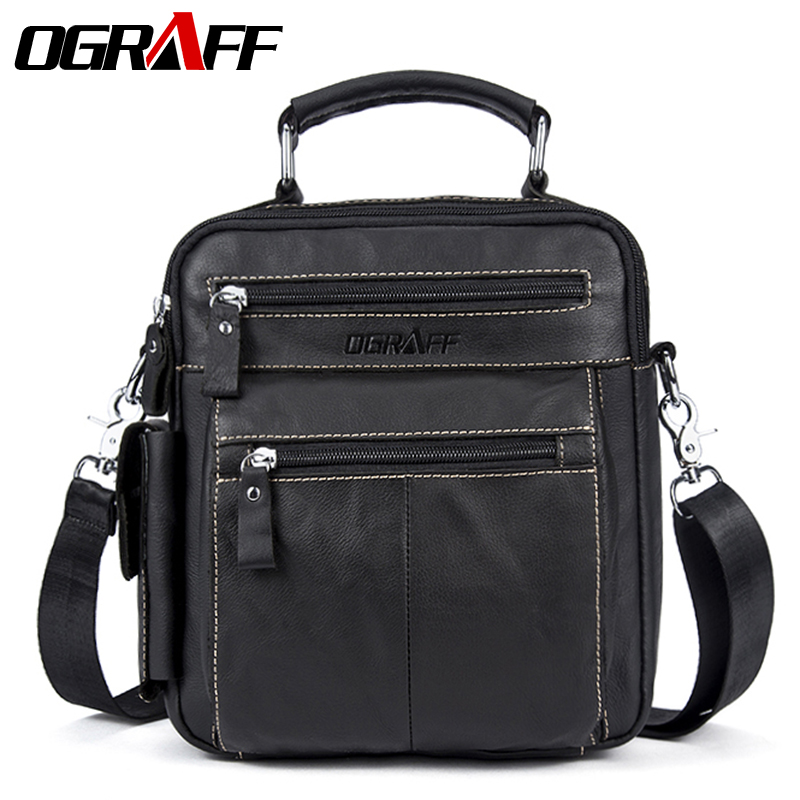 OGRAFF Men handbags designer genuine leather bag shoulder bags Tablets briefcase messenger bag men leather travel bags handbag ograff men shoulder bag men genuine leather handbag design briefcase crossbody messenger bags men leather laptop tote travel bag