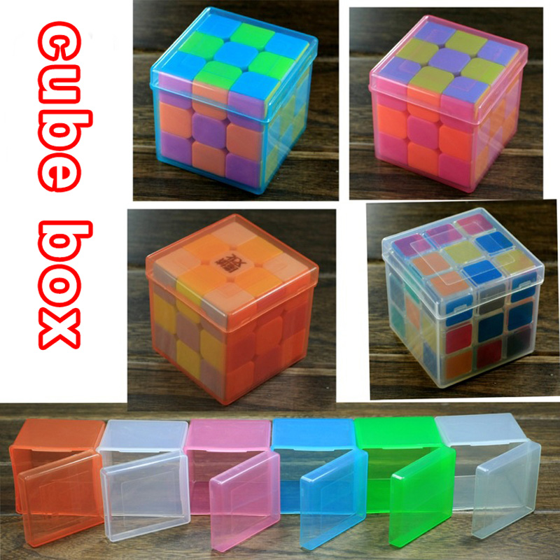1 PCS Transparent PP Plastic Protection Box Fox Magic Speed Cube Used For 3X3X3 Puzzle Speed Cube Protection Boxes Plastic  Box