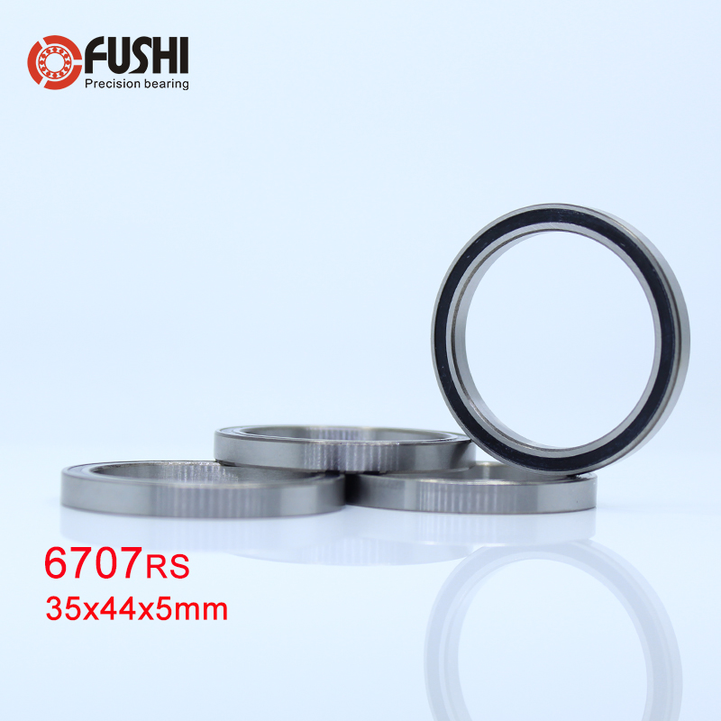6707 2RS Bearing 35*44*5 mm ( 4 PCS ) ABEC-1 Slim Thin Section 61707RS <font><b>6707RS</b></font> Ball Bearings 6707 RS image