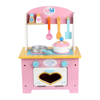 Kids Kitchen Toys Pretend Play Cooking Toys Mini Kitchen Set Wooden Simulation Cooking DIY Gift for Girls Boys