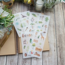 6 sheets a zoo open at my home washi Paper sticker as Scrapbooking DIY gift packing Label Decoration Tag party