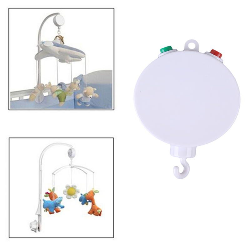 Baby toys RattlesWhite Baby Crib Musical Mobile Cot Bell Music Box 35 Melodies Song Crib Electric Bed Bell Toys for newborns rotary baby mobile crib bed toy melodies song kids mobile windup bell electric autorotation music box baby educational toys