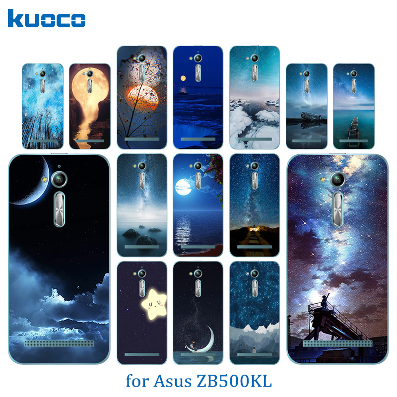 For Asus Zenfone Go ZB500KL Case Soft TPU Night Sky Pattern For Asus Zenfone Go ZB500KG 5.0inch Silicon Cover Phone Bag