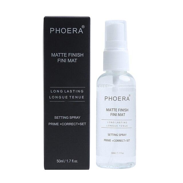 PHOERA 50ML Matte Face Primer Makeup Transparent Oil Control Natural Long Lasting Make Up Moisturizing Spray maquillaje TSLM1 4
