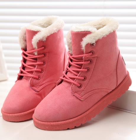 2017 New Fashion Women Winter Boots Classic Suede Ankle Snow Boots Female Warm Fur Plush Insole High Quality Botas Mujer Lace-Up 2017 new fashion women winter boots classic suede ankle snow boots female warm fur plush insole high quality botas mujer lace up