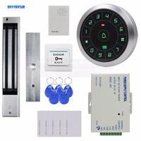 Diysecur круговой металлический корпус 125 кГц RFID считыватель Пароль Клавиатура + Магнитный замок дверной звонок Управление доступом безопаснос