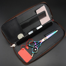 6.0 in. Purple Dragon Professional  Hair scissors set,Cutting scissors,Personality Barber shears,High-grade quality,S367 6 0 in purple dragon professional hair scissors set cutting