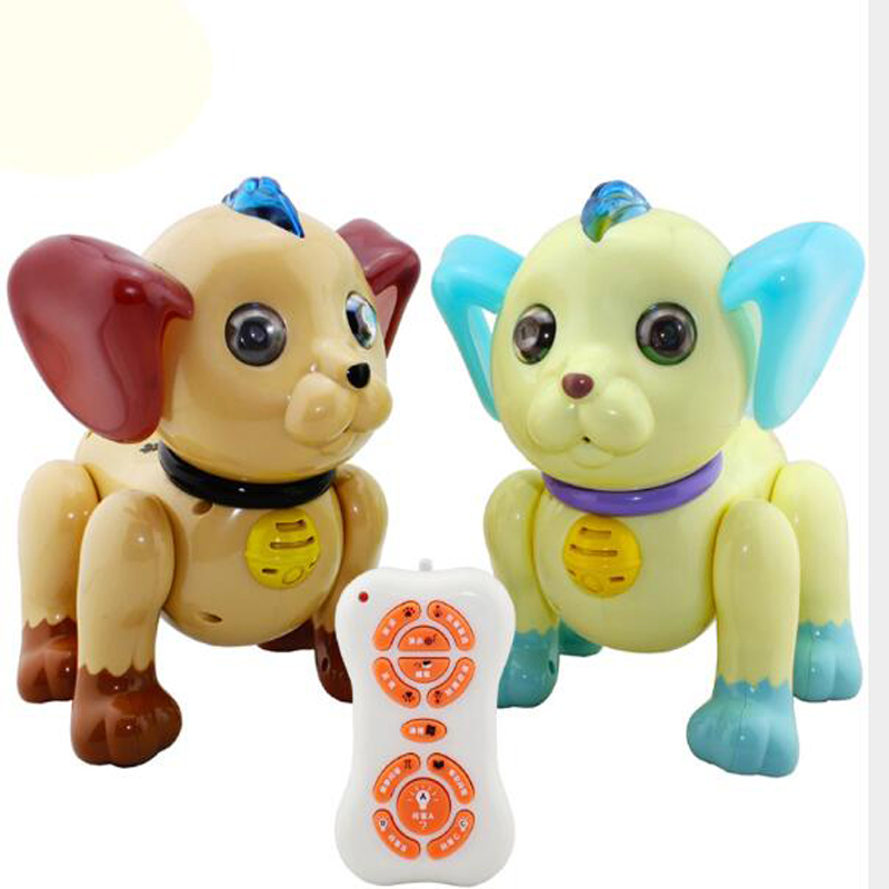 Intelligent Machine Dog Huanhuan Music Voice Control Electric Remote Control Toy Anti Real Machine Dog Early Education Model Toy