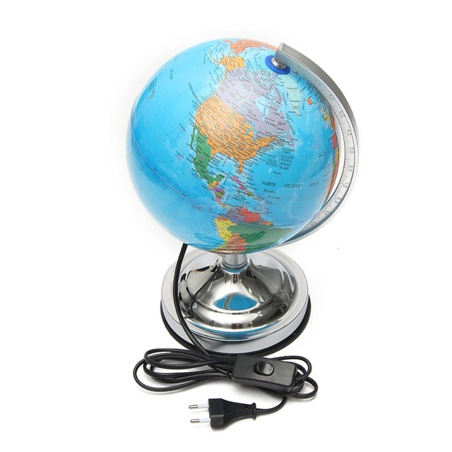 Online shop modern electronic illuminated floating geography globe modern electronic illuminated floating geography globe world map for birthday business gift home office desk decor gumiabroncs Image collections