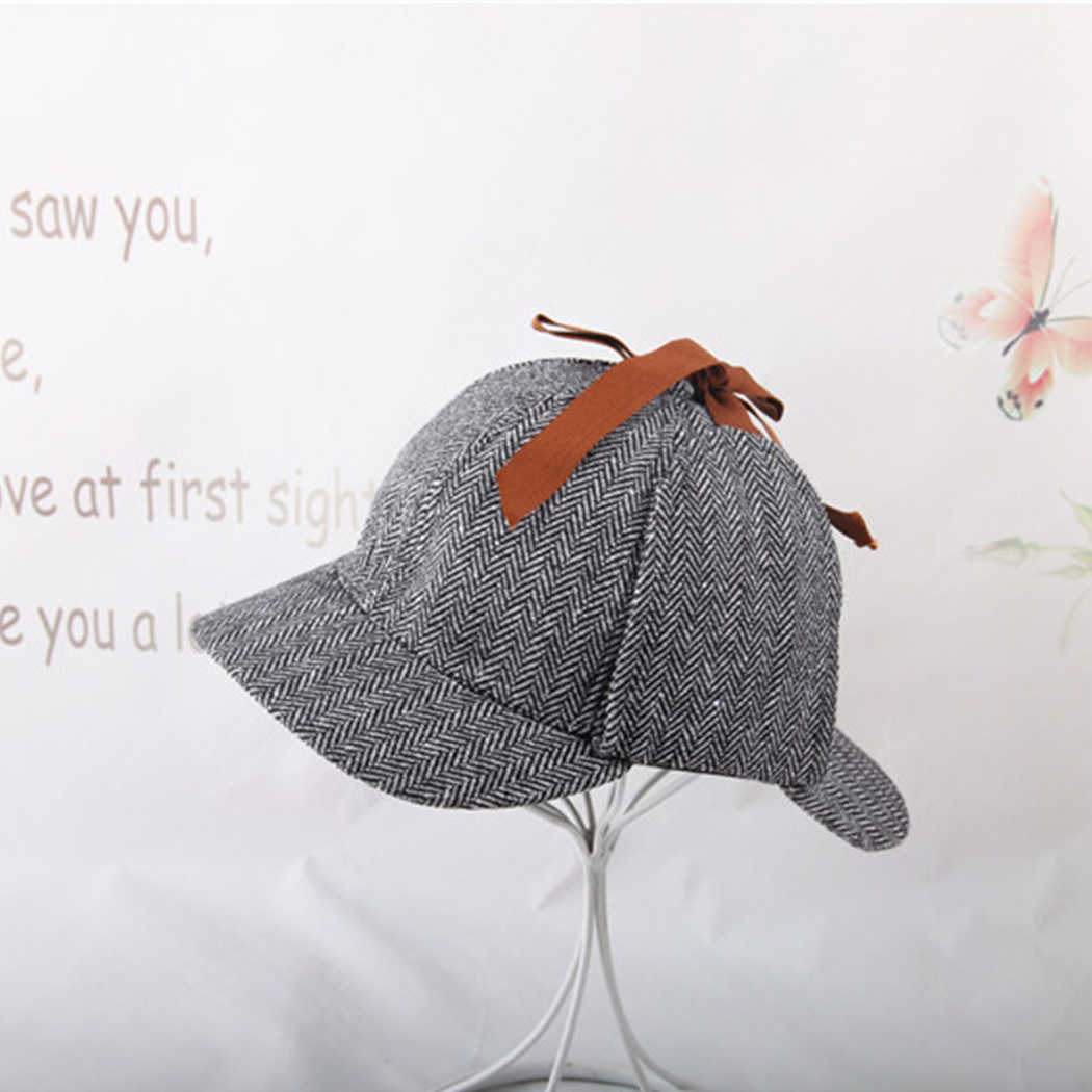 a2be92b1 ... Vintage Sherlock Holmes Beret Hat Costume Retro Earflaps Detective Hat  For Men Women Deerstalker Newsboy Flat