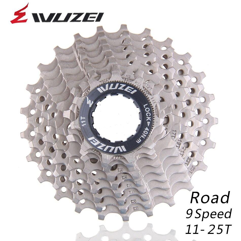 Wuzei 9 s 11-25 t rodas livres estrada bicicleta volante aço 9 velocidade cassete roda dentada 11-25 t compatível para peças 3300 3500 r3000