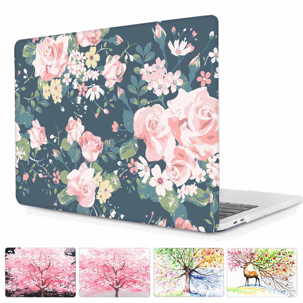 """Peony Blossom For MacBook air pro 11/"""" 13/"""" 15/"""" Matte Hard Protective Case Shell"""