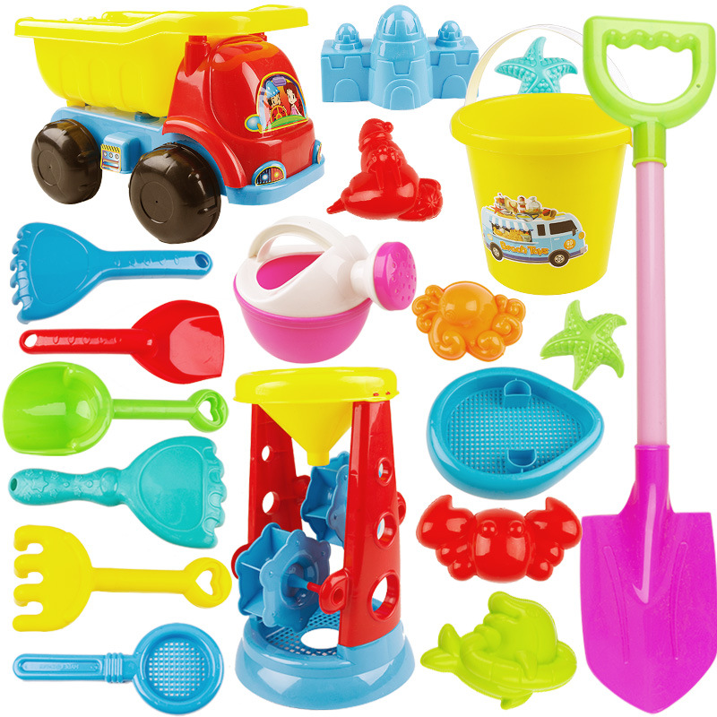 New Children Baby Beach Toys Set Castle Barrel Boys Girls Play Sand Tools Shovel Digging Sand Hourglass Toy ATV Kids Gifts G01
