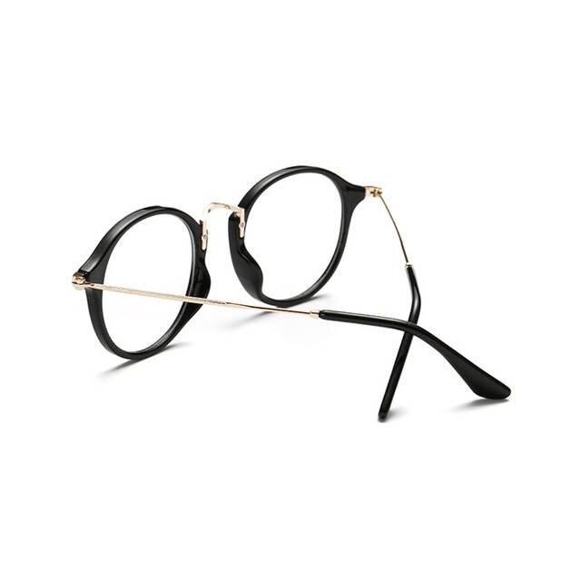 afbd531e43cf64 Classic Vintage Transparent Glasses Round Unisex Nerd Eyeglasses Frame  Clear Glasses lunette de vue de grau