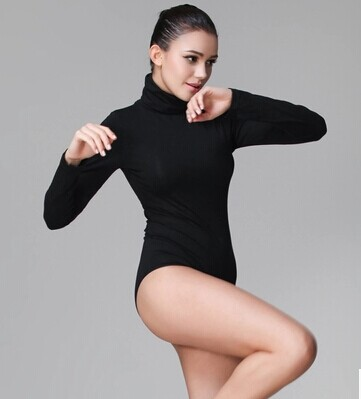 6242583e12 Sexy Turtleneck Bodysuit Pullover Long sleeve Leotard Women Top Basic Shirt  Autumn Winter Outfit Jumpsuit-in Bodysuits from Women s Clothing on ...