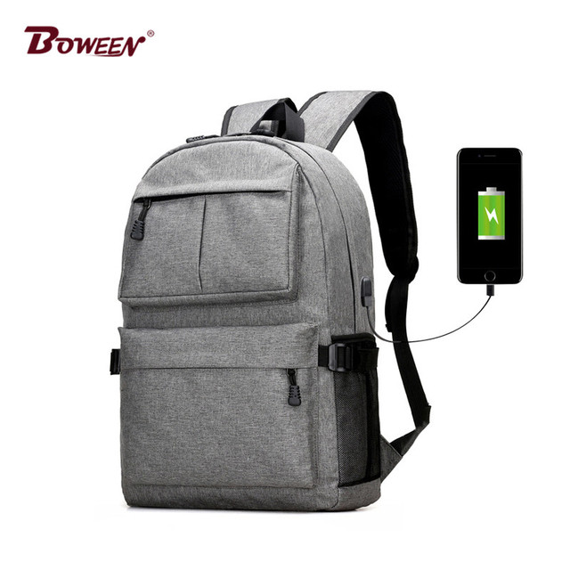 c754fba5f522 Teen boys girls backpack schoolbag canvas Large black Men School Bags Usb  Charge 13.3 Laptop back pack male Women Book Bag 2018