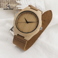 New Arrival Fashion Wood Watches Japanese Movement 2035 Bamboo Wooden Watches With Genuine Leather New Wood