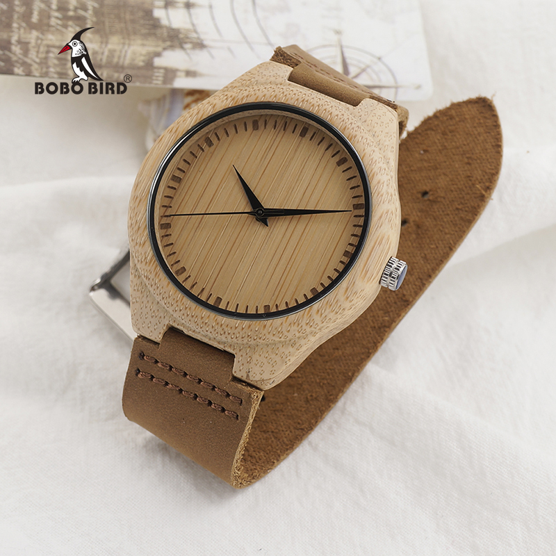 New Arrival Fashion Wood Watches Japanese Movement Bamboo Wooden Watches with Genuine