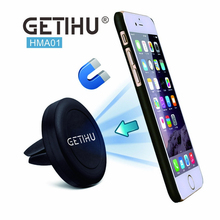 GETIHU Car Phone Holder Magnetic Air Vent Mount Moblie Smartphone Stand Magnet Support Cell Cellphone Telephone Desk Tablet GPS
