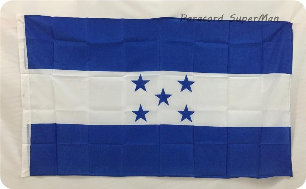 Honduras HON FLAG 3ft x 5ft roikkuva lippu polyesteri Hondurasin kansallisen lipun banneri 150x90cm juhla iso lippu