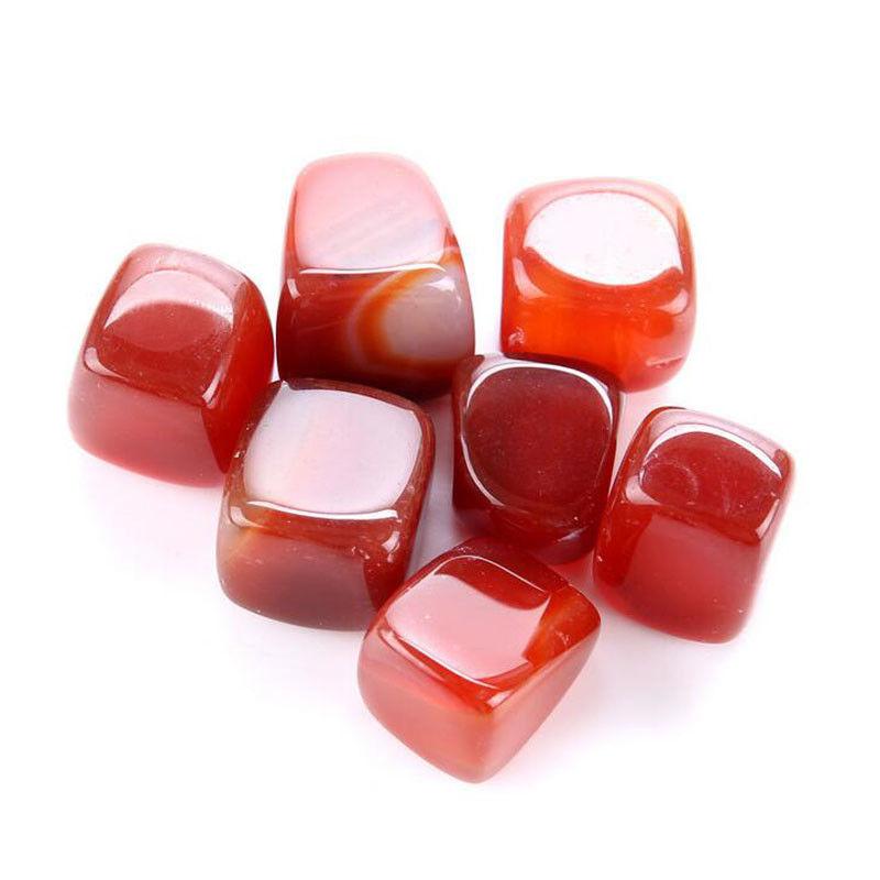 Jaspe rouge, pierre semi précieuse roulée