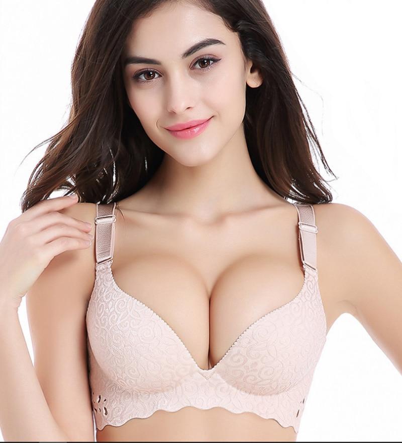 Plus Size Bra Set Push Up Underwear Women Lingerie Set Thin Cup Bras Large Size Intimates Ladies Bras and Panty Set 95 100 105