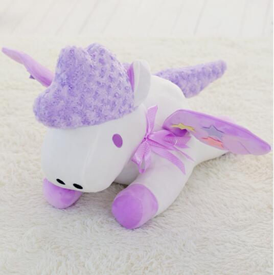 70 cm grande taille mignon violet licorne oreiller en peluche jouets poupée en peluche jouet