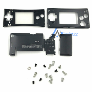 Image 3 - 5 Colors Metal Housing Shell case for Nintendo Gameboy Micro GBM front back Cover Faceplate Battery Holder w/ Screw