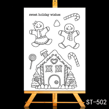ZhuoAng Happy holidays Clear Stamps/Card Making Holiday decorations For  scrapbooking Transparent stamps 10*15cm