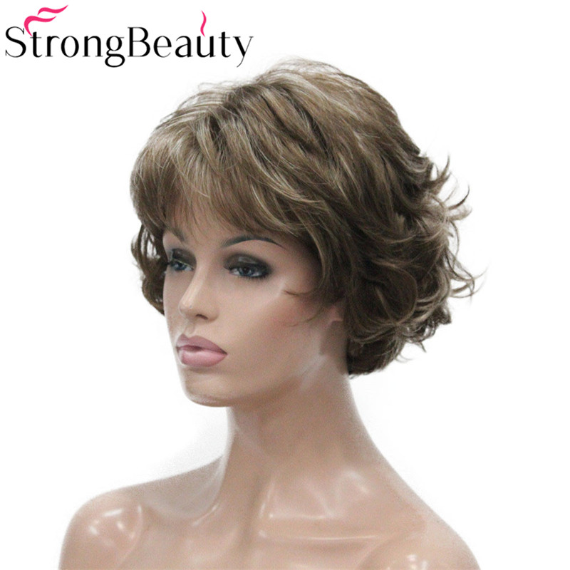 Image 3 - StrongBeauty Short Curly Synthetic Wigs Heat Resistant Capless Hair Women Wig-in Synthetic None-Lace  Wigs from Hair Extensions & Wigs