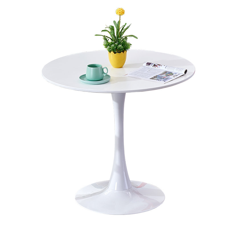 New Modern Minimalist Dining Table Small Round Table Sales Office To Negotiate Reception Reception Desk Round Cafe Table