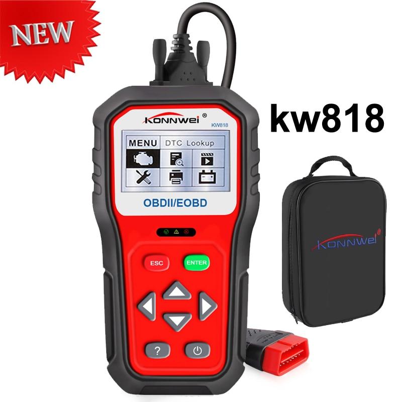 Best OBD2 сканер KW818 Анто инструмент диагностики Шина CAN автомобиль код читателя KW818 obd ii multi-Язык сканер лучше чем NX501 MS509 ...