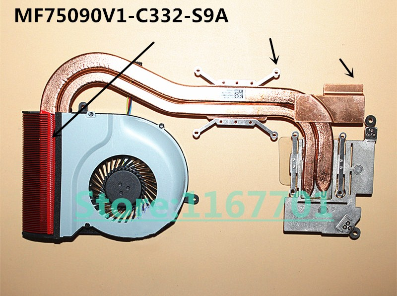 New Original Laptop/Notebook CPU Cooling Radiator heatsink&Fan for <font><b>Asus</b></font> N551 <font><b>N551V</b></font> N551VW MF75090V1-C332-S9A image