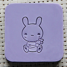 Cute Rabbit Acrylic Soap Seal Stamp for Natural Handmade Soap Decoration