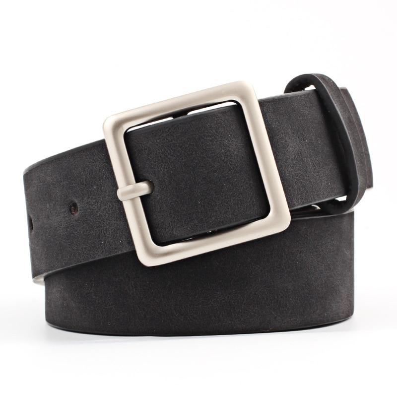 2019 New Designer Black Red White Wide Leather   Belt   Waistband Female Vintage Square Pin Buckle Waist   Belts   for Women Dresses