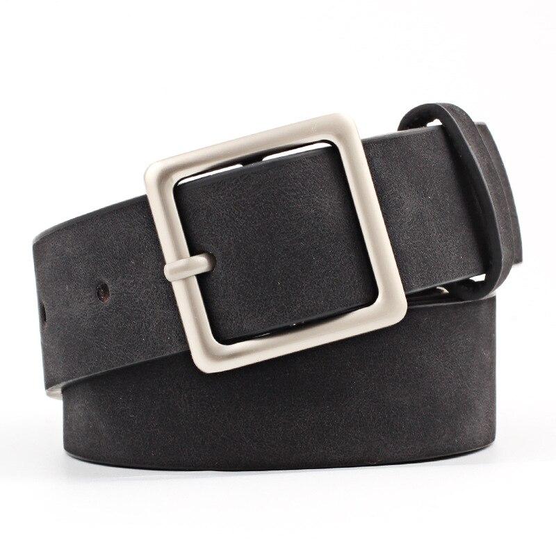 2020 New Designer Black Red White Wide Leather Belt Waistband Female Vintage Square Pin Buckle Waist Belts For Women Dresses