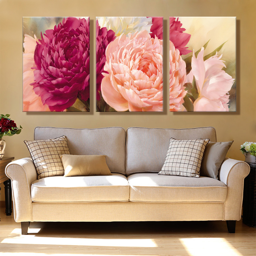 Buy oil painting canvas bright flowers for Home decor products