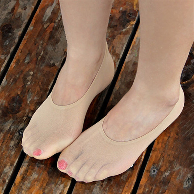 2017 Hot sale fashion Summer Women's Candy Color Boat Socks Girl's Silicone Invisible Socks Thin S compression funny socks