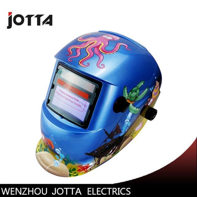 832a74cf0fc0f Dos desenhos animados Solar auto escurecimento da soldadura máscara capacete  cap soldador solda