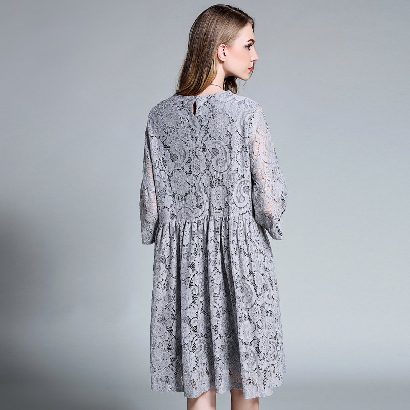 Women Mini Lace Party Vintage Dress 2017 tunique Summer Plus Size women  clothing Office Boho Sweet Short Lace Dresses XXXL 4XL -in Dresses from  Women s ... cfae917be1a9