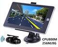 Обратная Система Парковки, 7 дюймов Автомобиля GPS Навигации 256 М/8 ГБ CPU800Mhz + Беспроводной камера Заднего вида + бесплатный последние карты