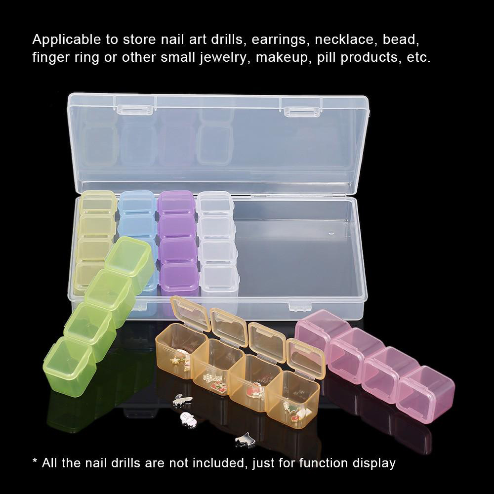 Jewelry Display Transparent Plastic Storage Box Jewelry Ring Display Box Tray Storage Organizer Jewelry Packaging Display in Jewelry Packaging Display from Jewelry Accessories