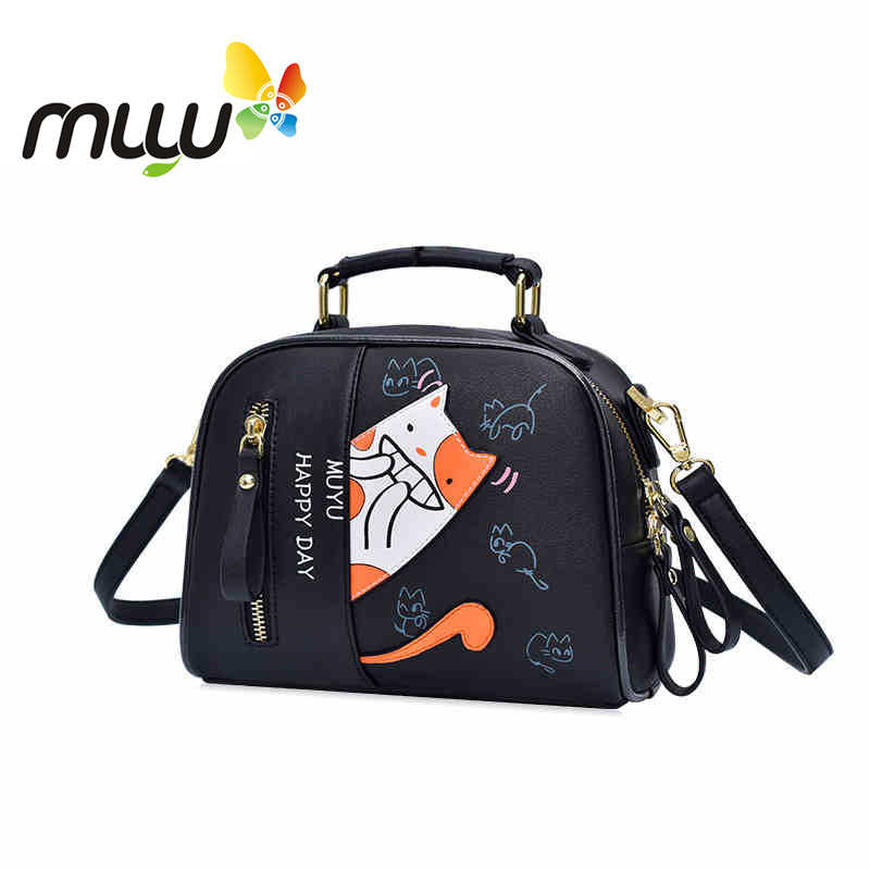 7ffd2c1714d60 Muyu Cartoon Cute Crossbody Bags for Women Soft PU Casual Satchels Single  Shoiulder Bag Japan Style
