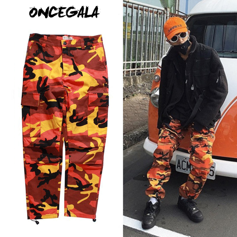 2017 New Fashion Mens Womens Cargo Pants Casual Multi-pockets Baggy Pants  Cotton Military Camouflage Trousers Plus Size S-2XL b0ed6d555f4