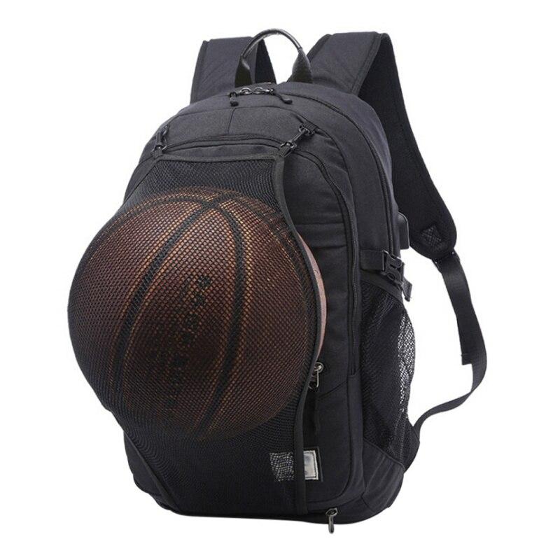 Men Sport Basketball Backpack Laptop School Bag For Teenager Boys Soccer Ball Pack Bag Male With Football Basketball Net цена