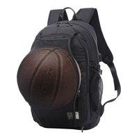 Men Sport Basketball Backpack Laptop School Bag For Teenager Boys Soccer Ball Pack Bag Male With Football Basketball Net