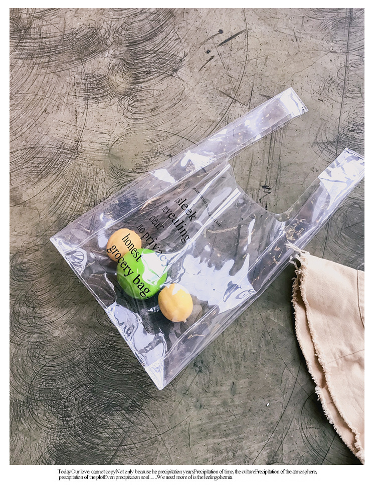 Waterproof Reusable Ping Bags Transpa Women Tote Bag Portable Cloth Eco Grocery Large Capacity Handbags Recycled