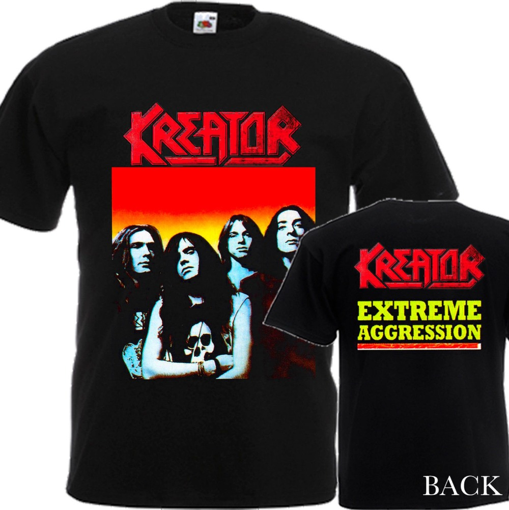 2018 Short Sleeve Cotton T Shirts Man Clothing KREATOR Extreme Aggression NEW T-Shirt MENS-DTG PRINTED TEE SIZE S-3XL