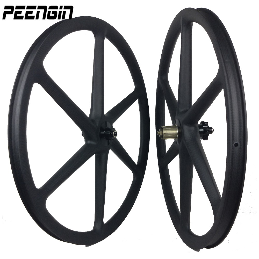 carbon 3k weave 6 spoke clincher wheels mountain bike six spoke wheelset UD 27.5 inch MTB bike 26er/650B matt/Glossy appearance 26er mtb carbon wheels 25mm clincher mountain carbon bike wheelset powerway m81 ud matt with logos bike wheels 26er 25c