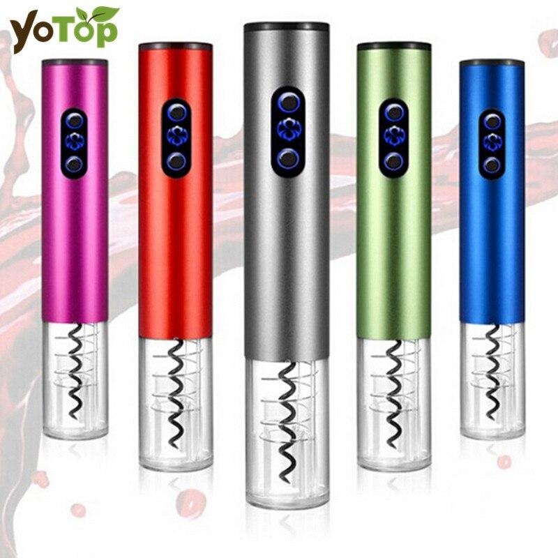 YOTOP Lega di Alluminio Elettrico Automatico Apri Bottiglia di Vino Cavatappi Wine Opener Cordless Con Tagliacapsule E Vuoto Tappo